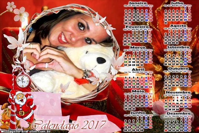 Calendário 2017 Hora do Natal Papai Noel