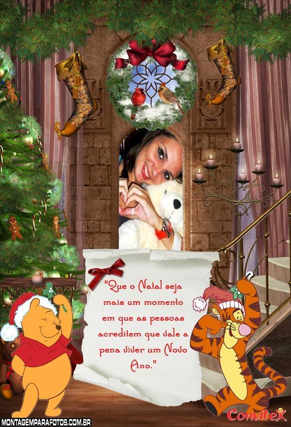 Moldura Natal Tigrao e Pooh