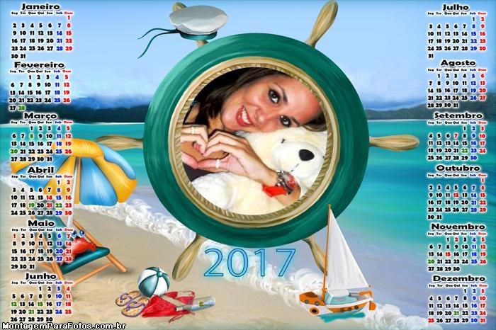 Calendário 2017 Praia Marinheiro