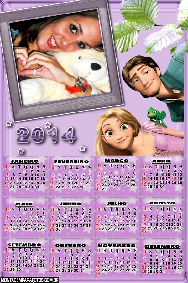 Rapunzel Disney Calendário