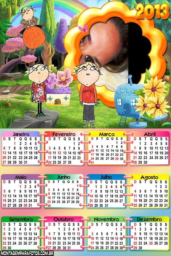 Calendário Charlie e Lola 2013