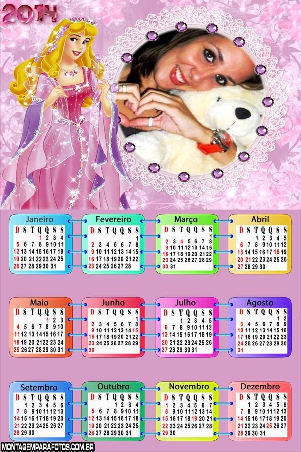 Calendário Princesa Aurora 2014