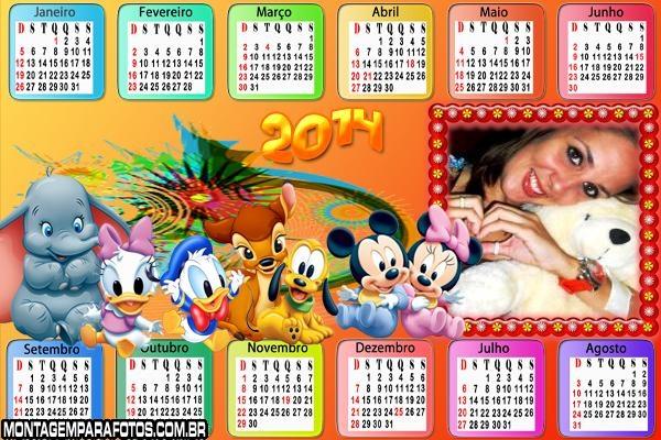 Calendário 2014 Disney Junior