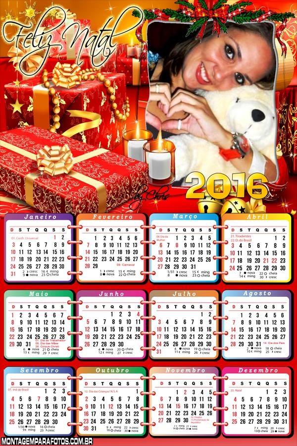 Calendário Natal Presentes 2016