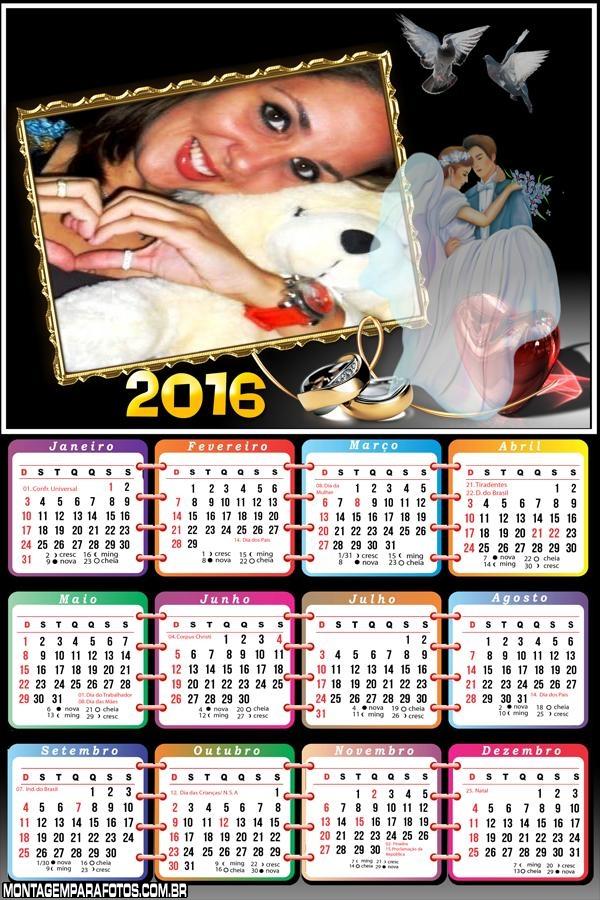 Calendário de Casamento 2016