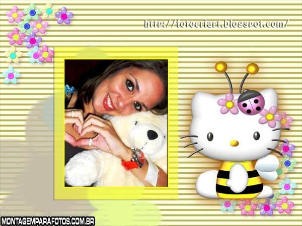 Moldura Hello Kitty Abelha