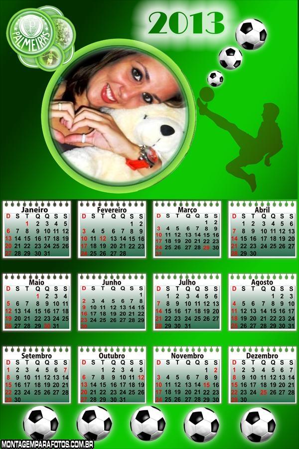 Time Palmeiras Calendário 2013