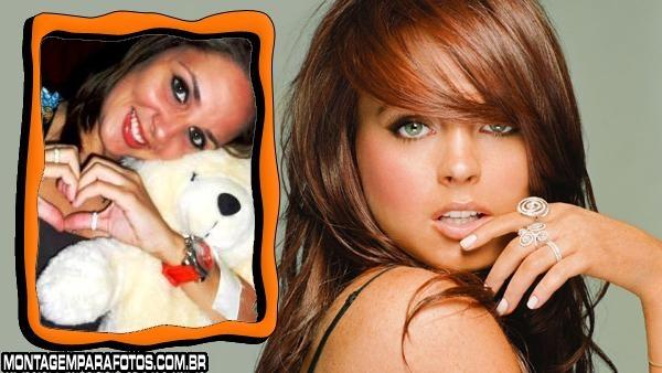 Moldura Lindsay Lohan Ruíva