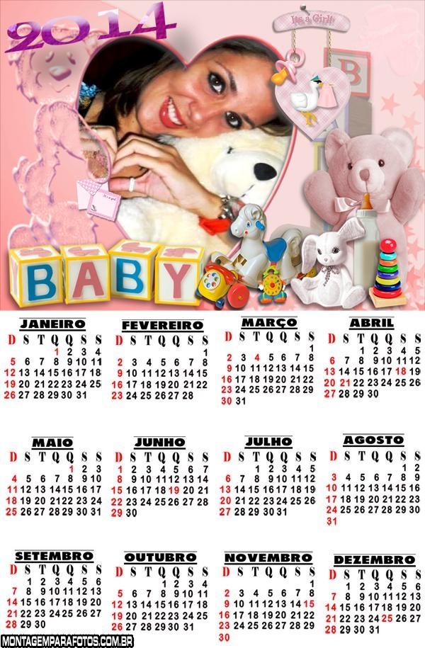 Moldura Calendário 2014 Baby