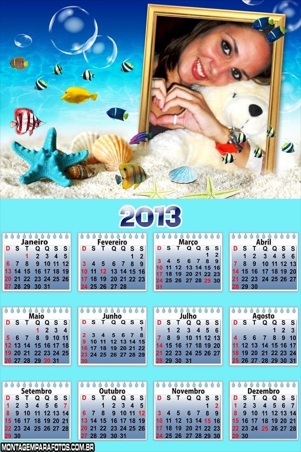 Calend�rio Fundo do Mar 2013
