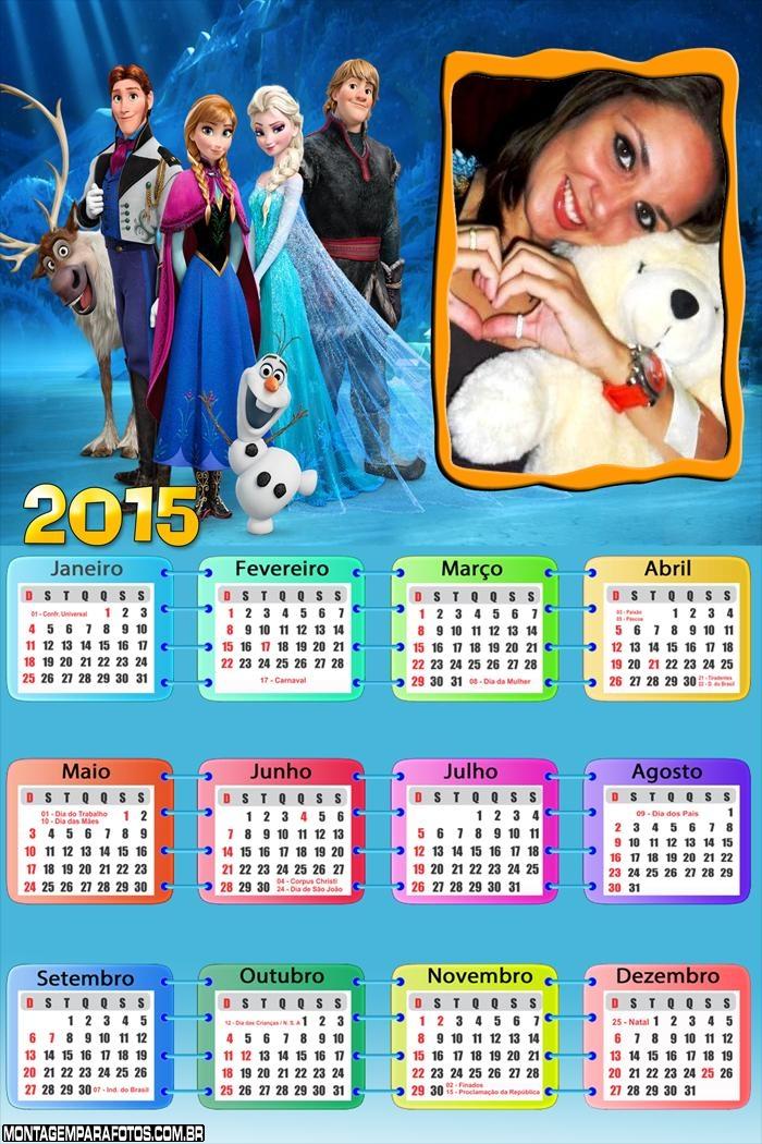 Calendário 2015 Frozen Filme
