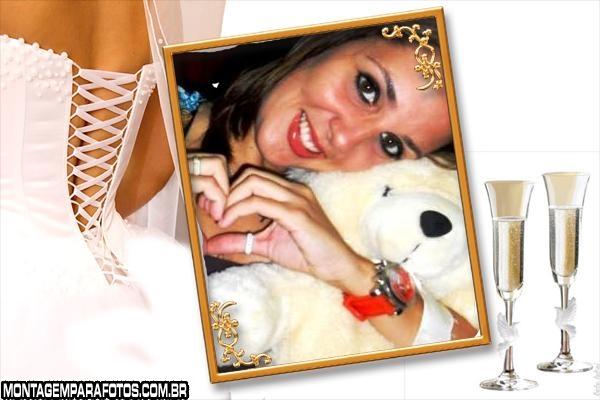 Taças e Noiva com Decote