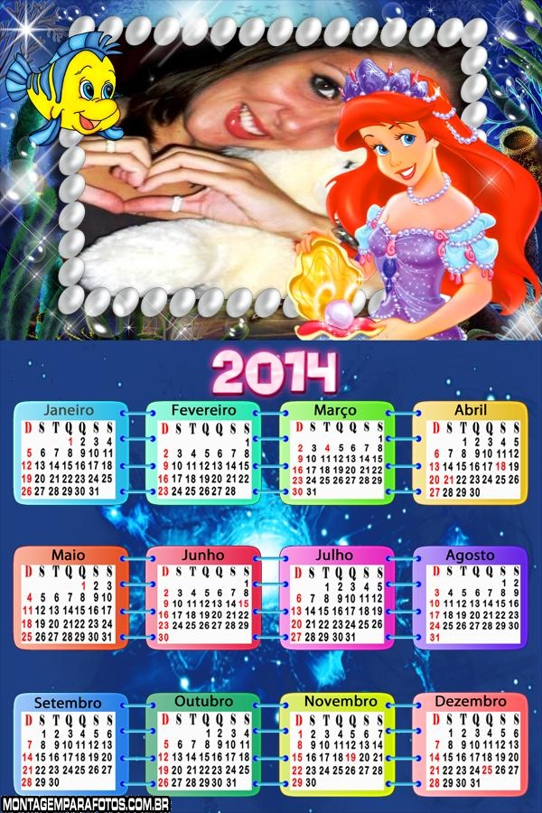 Calendário 2014 Princesa Ruiva