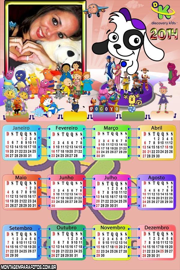 Calendário 2014 Discovery Kids