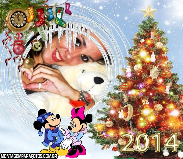 Árvore Natal Mickey e Minnie