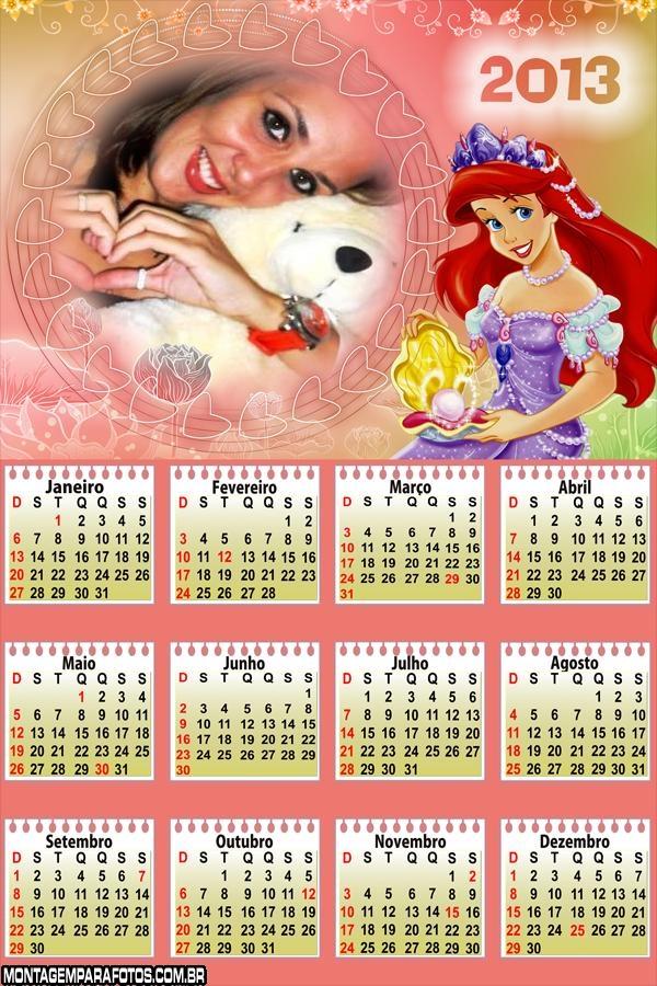 Ariel Pérola Calendário 2013