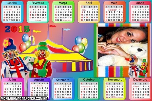 Calendário 2015 do Circo