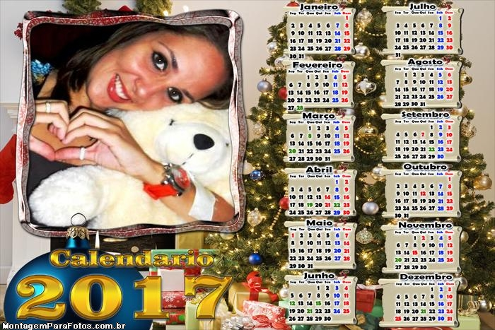 Calendário 2017 Brilho Natalino