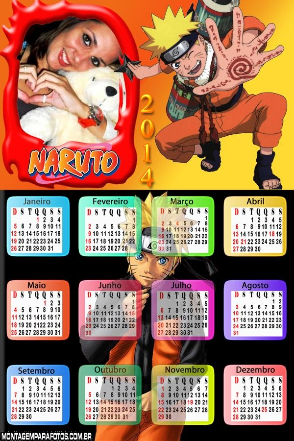 Calendário do Naruto 2014