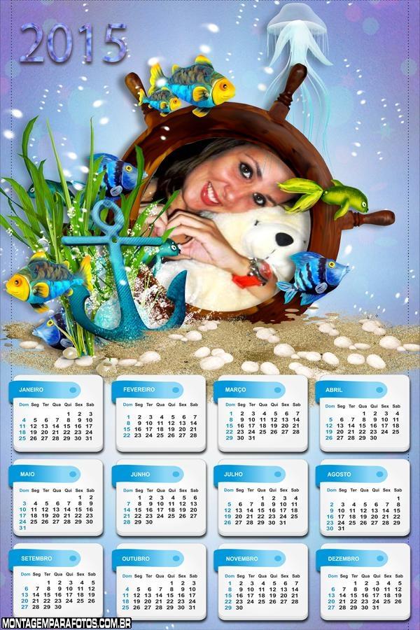 Calendário 2015 Âncora Mar