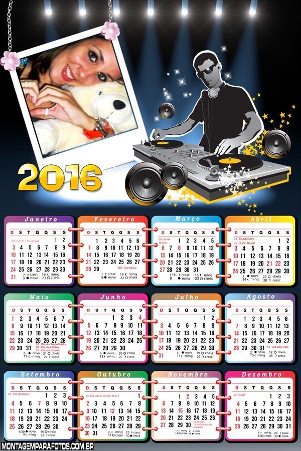 Calendários DJ Dee Jay 2016