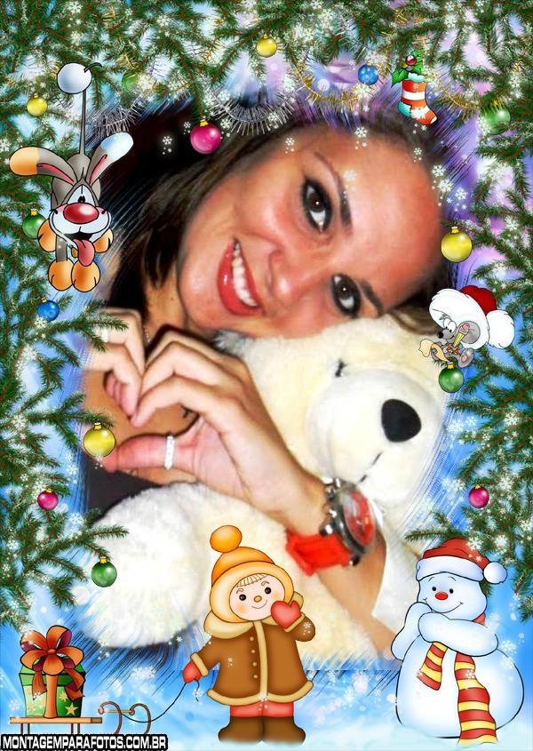Moldura Infantil de Natal