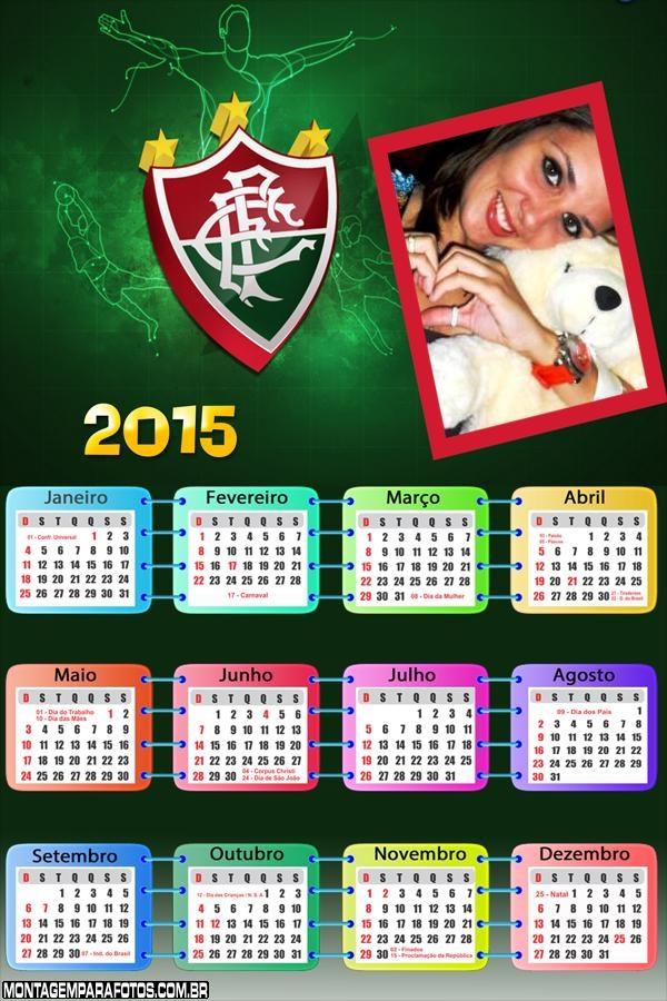 Moldura Calendário 2015 Fluminense