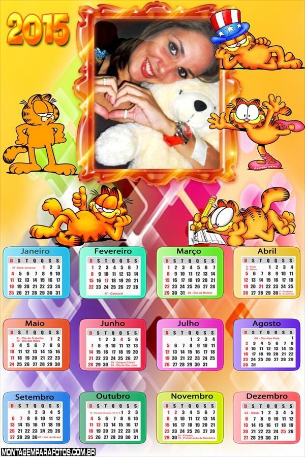 Calendário 2015 Garfield Gato