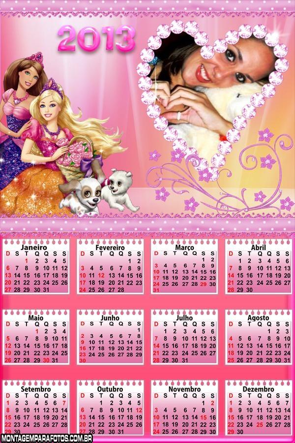 Calendário 2013 Barbie Cães