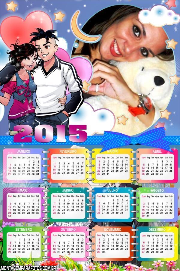 Calendário 2015 Jovens Desenho