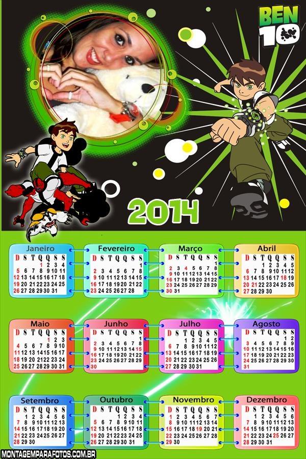 Calendário 2014 Ben 10 Alien