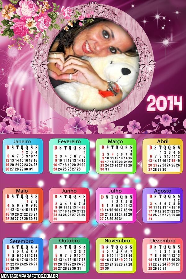 Calendário Arranjos Roxos 2014