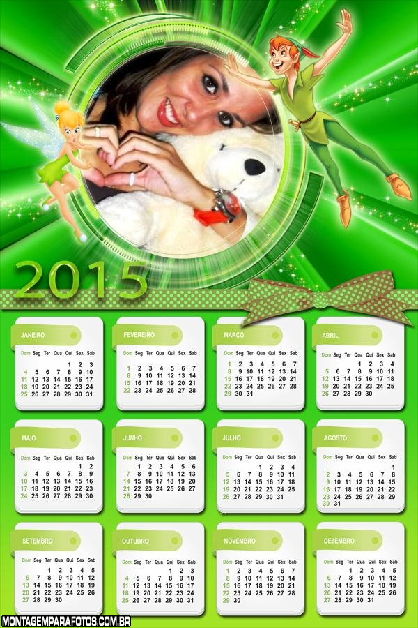 Calendário 2015 Peter Pan