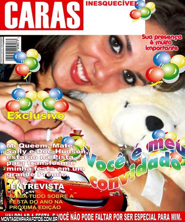 Convite McQueen Capa Revista