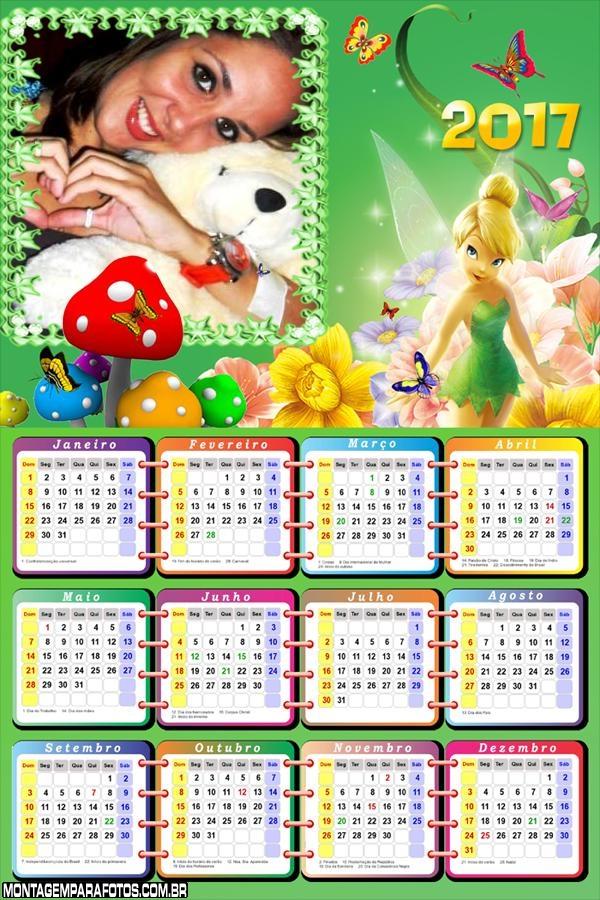 Calendário 2017 da Tinker Bell Encantadora