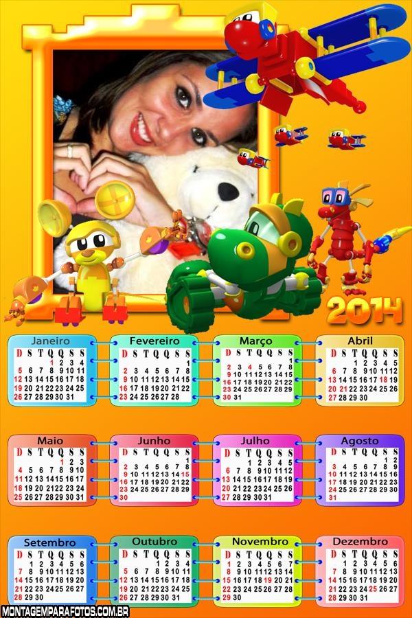 Calendário 2014 Mecanimais