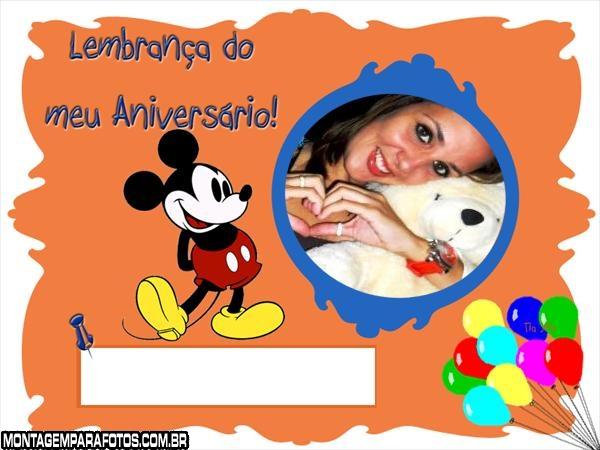 Moldura Lembrança do Mickey