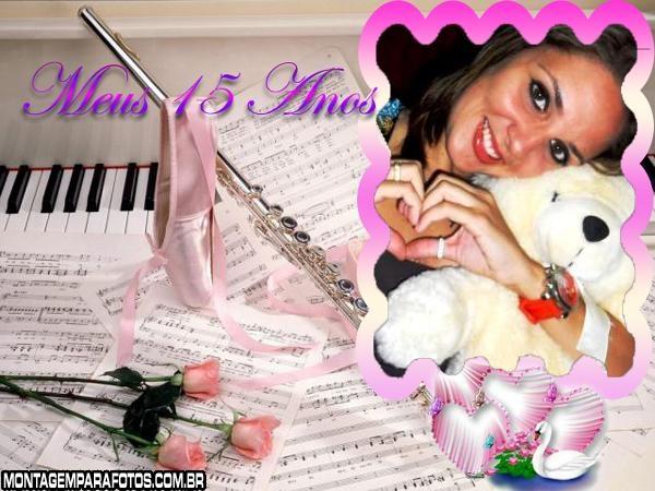 Moldura Musical de 15 Anos