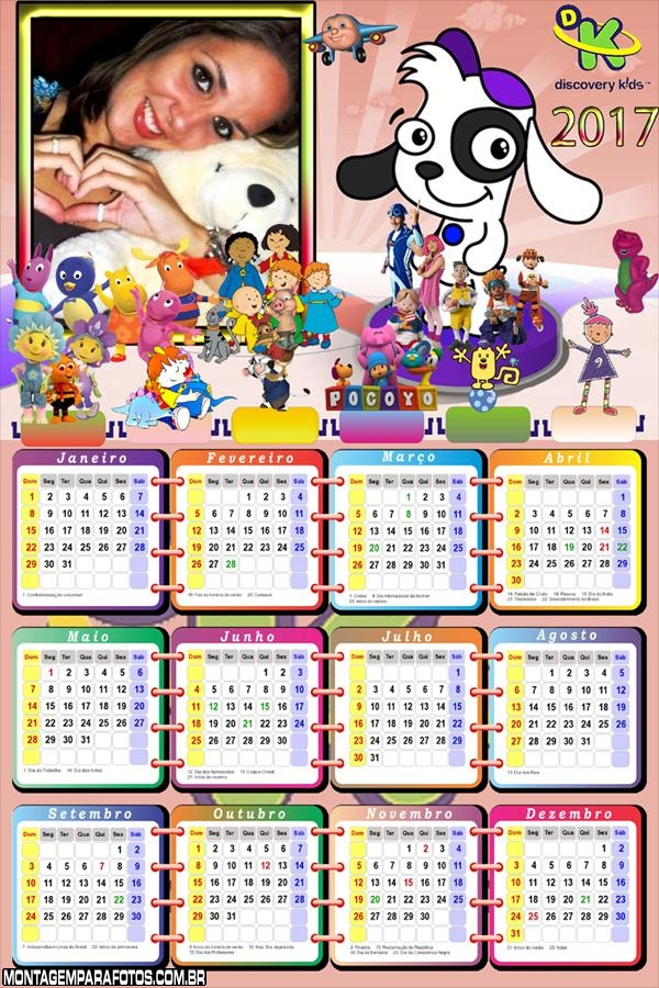 Calendário 2017 Doki do Discovery Kids
