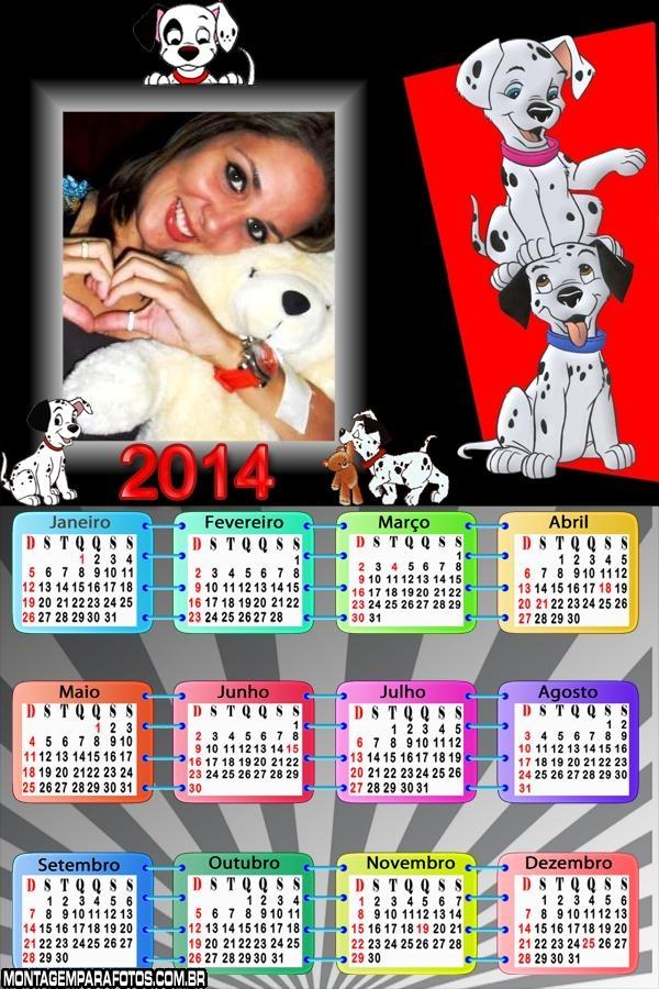 Calendário 101 Dálmatas 2014