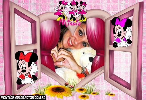 Moldura Janela Amor Minnie