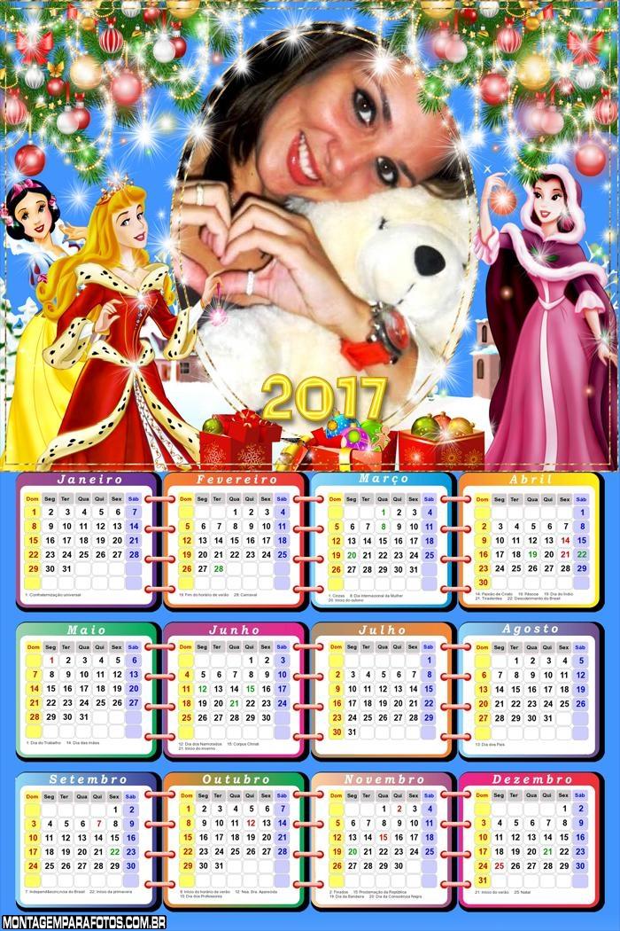 Calendário 2017 Natal das Princesas