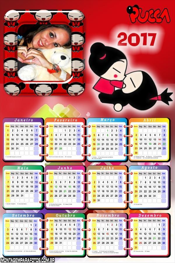 Calendário 2017 Pucca Anime