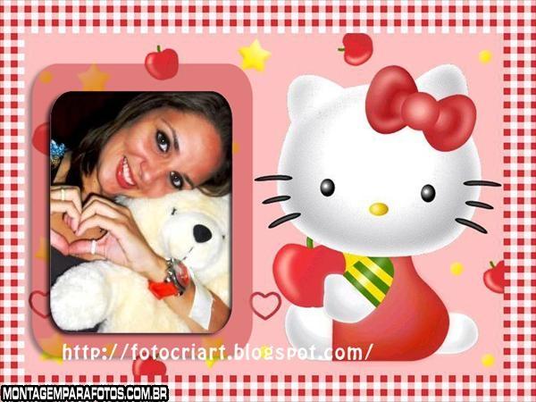 Moldura Hello Kitty Maçã
