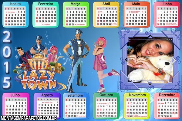 Calendário 2015 Horizontal