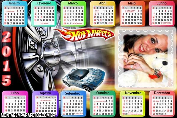 Calendário 2015 Hot Wheels