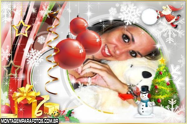 Moldura Feliz Natal Engraçado
