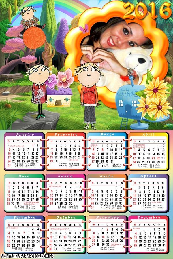 Calendário do Desenho Charlie e Lola 2016