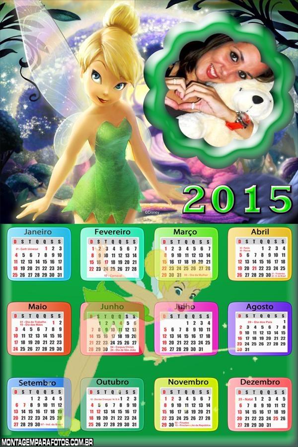 Calendário 2015 Fada Tinker Bell