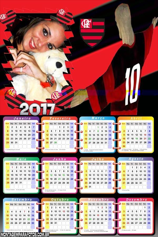 Calendário 2017 Flamengo Cristo Redentor